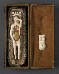Figura femenina usada como modelo anatómico (Italia, s. XVIII)