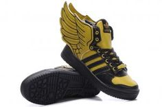 detailed look 5f480 f663d Originals Adidas Jeremy Scott Wings 2.0 Yellow Black Shoes