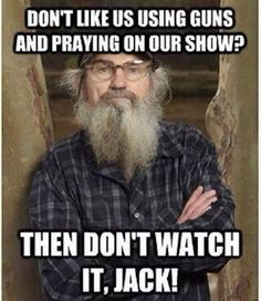 BOYCOTT! A&E.  And those demanding the suspension of Phil Robertson AND getting it, don't even watch the show.