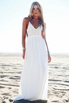 Camilla Open Back Crochet Maxi Dress - White – Haute & Rebellious