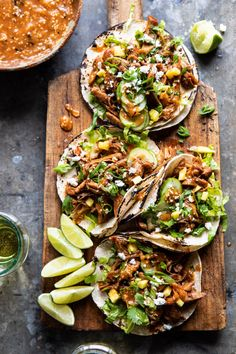 Instant Pot Korean Bulgogi BBQ Chicken Tacos with Spicy Tomatillo Sesame Salsa- Half Baked Harvest Asian Recipes, Mexican Food Recipes, Healthy Recipes, Rib Recipes, Fast Recipes, Healthy Food, Kimchi, Bulgogi Sauce, Gourmet