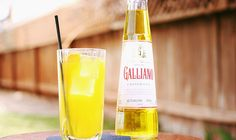 Harvey Wallbanger: In a tall glass full of  ice, add: 3 oz orange juice 1 1/2 oz vodka 1/2 oz Galliano garnish with an orange slice serve with a straw