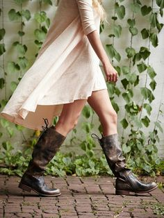 Bed Stu Bed | Stu Manchester Tall Boot - women's fashion / shoes (Distressed leather tall boot with darker edges)