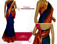 You will love yourself in this gorgeous Designer Kancheepuram Saree !  Material : Kancheepuram Color : Royal Blue Work : Contrast border and contrast pallu  #Lulucelebrate