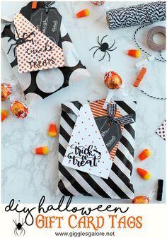 DIY Halloween Gift Card Tags