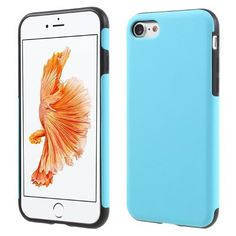 Matte TPU Phone Case for iPhone 7 - Baby Blue