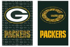 fd62d027e29 Green Bay Packers Two Sided Glitter Embellished Garden Flag House Flags