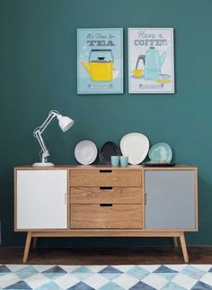 Cabinets Scandinavian furniture In the living room wooden chest of drawers Vintage Sideboard, Vintage Furniture, Painted Furniture, Modern Furniture, Home Furniture, Furniture Design, Vintage Buffet, Furniture Ideas, Deco Retro