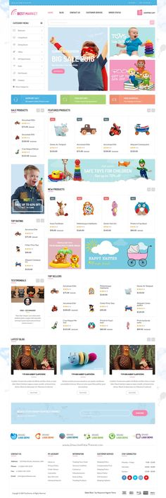 Bestmarket is modern and attractive 6 in 1 #Magento theme for multipurpose #kids…