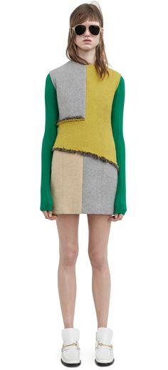#AcneStudios Ebele sleeveless beige/yellow dress #PreFall2016