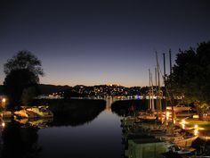 Ohrid, Macedonia at night.