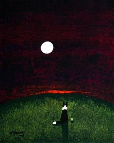 Abstract+Dog+Art | Border Collie Dog original abstract art painting by Todd Young 8x10 or ...