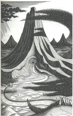 Eric Fraser illustration for The Hobbit