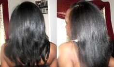 Long, fine natural hair
