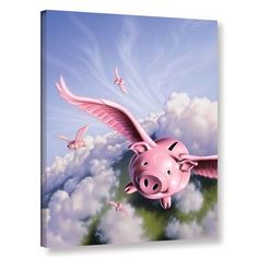 """ArtWall 'Piggies' by Jerry Lofaro Photographic Print on Wrapped Canvas Size: 24"""" H x 18"""" W x 2"""" D"""