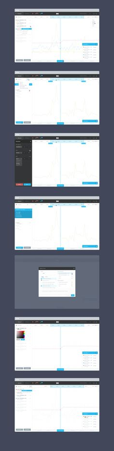 Great looking concept for a data analytics tool with many customisation options and interactions