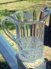 McKee Plutec Pitcher Clear Glass EAPG EUC