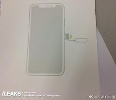 Possible 'iPhone 8' SIM Tool Packaging is Consistent With Rumors of Narrow Bezels and Front Camera Notch