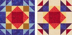 Grab Your Fabric Scraps and Make a Unique Sampler Quilt: Block Eight: Summer Winds Quilt Block Pattern