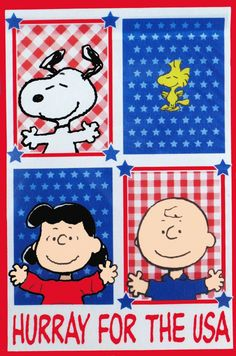 PEANUTS GANG PATRIOTIC Flag