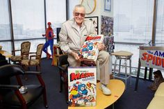 """<<Look at what landed on your #Generalissimo's desk today, from his friends at TASCHEN! The first copy of """"75 Years of Marvel""""! I could barely pick it up, let alone put it down. It launches next week, be sure to order it at:http://www.taschen.com>> Photo by: Dalmiro Quiroga"""