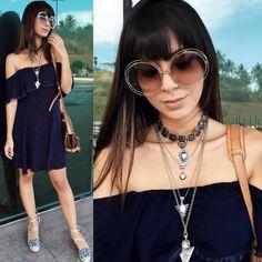 Uma inspiração de look estiloso e confortável da @ricademarre  #oticaswanny #ricademarre #chloe #carlina #gabrielasales