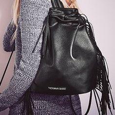 Victoria's Secret Limited Edition Official Fashion Show Fringe Backpack Bag