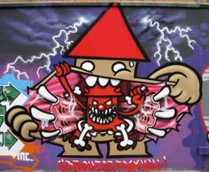 #street #art by #Utrecht artist #KBTR who often pictures #gnomes. '#Kabouter from #hell'