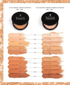 Younique's Mineral Touch Cream and Powder Foundations. Available in 10 perfect-for-you shades! Get yours at www.youniqueproducts.com/janek