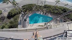 Daredevil Jumping From Hotel's Roof Into A Swimming Pool | Gif Finder – Find and…