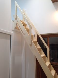 stairs that lift up on a pulley system the counter weights used are old window weights that had. Black Bedroom Furniture Sets. Home Design Ideas