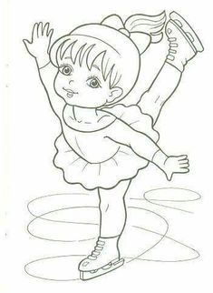 Ice Skater Coloring Page Lovely Figure Skater Coloring Pages to and Print for Free Sports Coloring Pages, Coloring Book Pages, Coloring Pages For Kids, Coloring Sheets, Adult Coloring, Sport Craft, Art Drawings For Kids, Christmas Coloring Pages, Christmas Colors