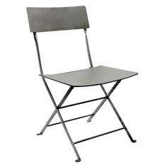 Picture of Silver Steel Folding Slat Chair