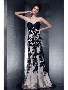 Attractive Floor-length Strapless Mermaid Olga's Evening Dress