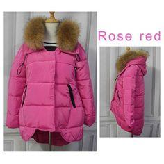 Elexs Fur Collar / Big Fur Hood Thicken Winter Coat Women Parkas Women Winter Coats 23