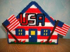 Patriotic Napkin Holder by cecrafts on Etsy, $6.50