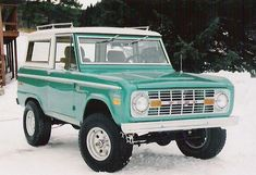 Yup, that ol' guys bronco looks just.like.this. well... it's not as shiny but, it's all original. I know Nate would let me have it if I asked but, I know it's not exactly practical. I do ♡ it though.