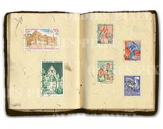 Vintage Stamps France French Postage Instant by OldiesPixel, $3.25