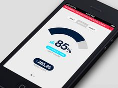 Spending Control App | Progress Statistics Screen UI Design