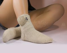 Hand knitted socks with needle felted sloth, knitting, wool, woman socks, warm, woman clothing, hand knit socks, winter gift, unique, autumn - pinned by pin4etsy.com