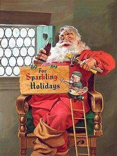 Santa Claus Coca-Cola Ad by Haddon Sundblom