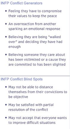 Cannot believe how accurate these INFP conflict facts are for me