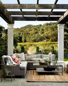 McGuire Furniture: Barbara Barry: Outdoor.  Love the pergola!!!