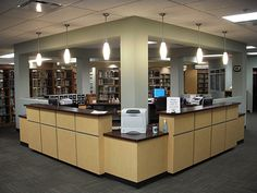 Circulation Desk | Leigh Library Renovation, Jefferson Davis Community  College, Brewton, AL.