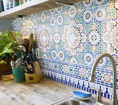 kitchen countertops that go with azuelos tiles - Google Search