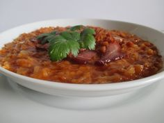 Péntek: 1. Paradicsomos káposzta Chana Masala, Chili, Soup, Ethnic Recipes, Chile, Chilis, Soups, Chowder