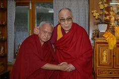 Lama Zopa Rinpoche and His Holiness the Dalai Lama in 2011.  Lama Zope Rinpoche suffered a stroke a few months ago, but seems to be recovering quite well.  He is a kind, compassionate, wonderful human being whose laugh is absolutely infectious.  Whatever your path, prayers for his health and long life are always welcomed.