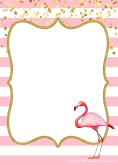 A free flamingo birthday invite template. The ultimate guide to throwing a DIY flamingo party- diythought.