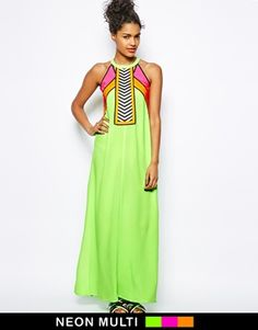 Image 1 - River Island - Maxi robe color block fluo