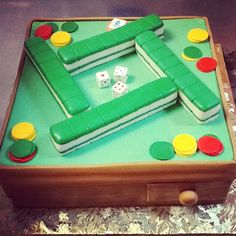 Mahjong cake for someone that takes it serious.